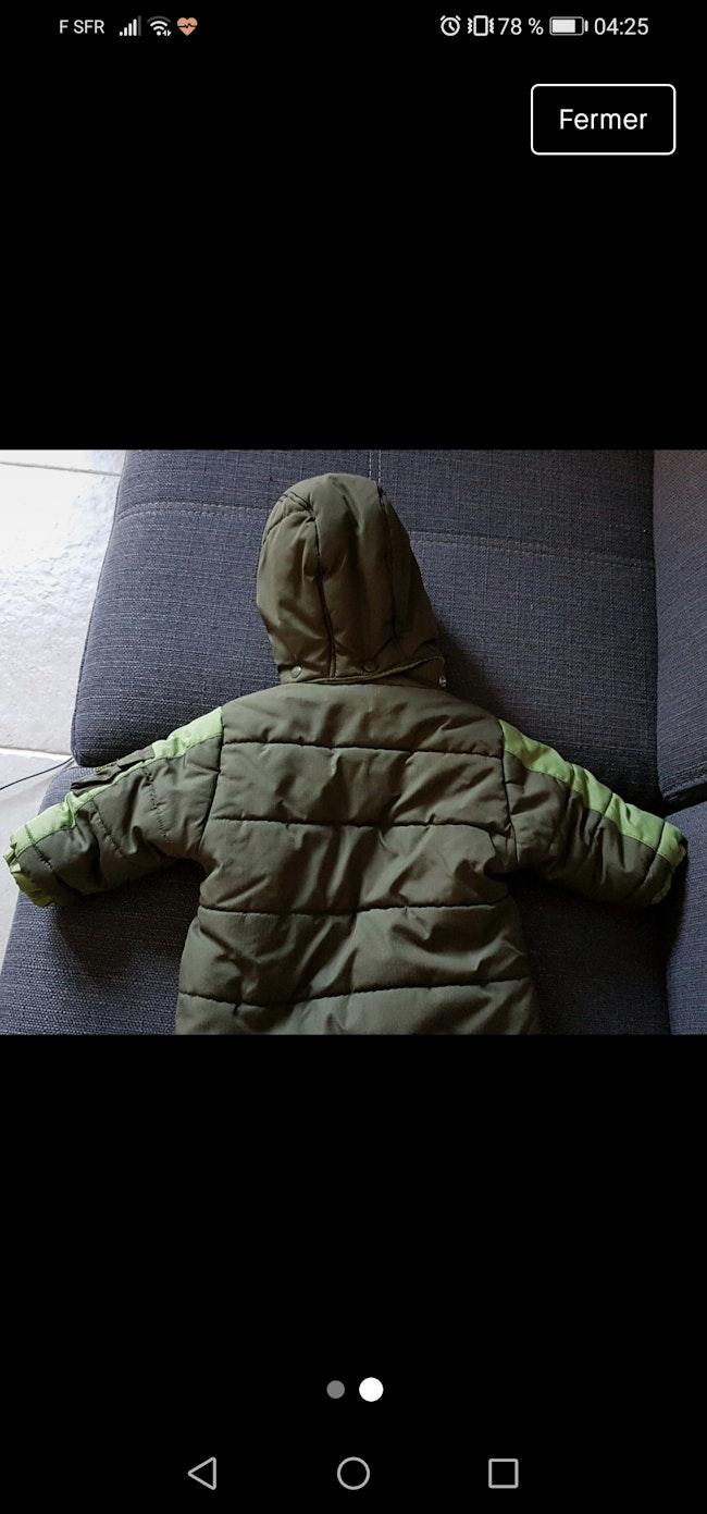 Manteau quasi neuf 6mois 3e