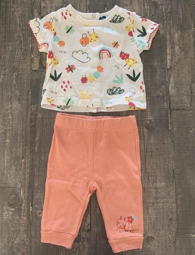 T-shirt et pantalon 3 mois Mots d'enfants