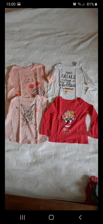 Lot 4 tee-shirts manches longues 3ans