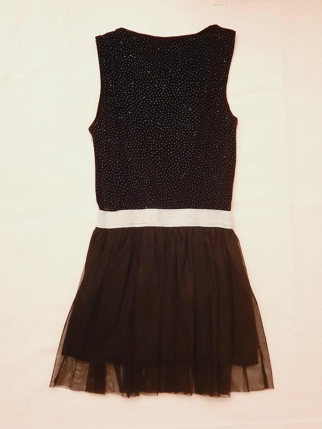 Robe noir strass