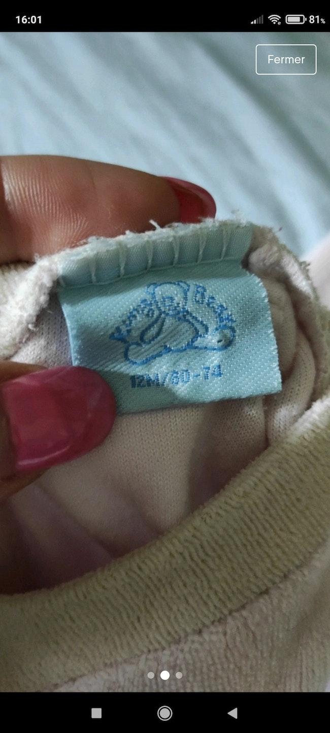 Pyjama lapin 12 mois