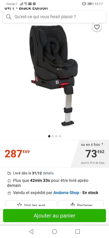 Siège auto Hauck isofix peut ce mètre aussi avec la ceinture