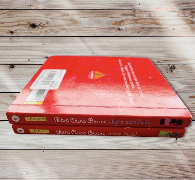 Lot de 2 livres cartonnés Petit Ours Brun