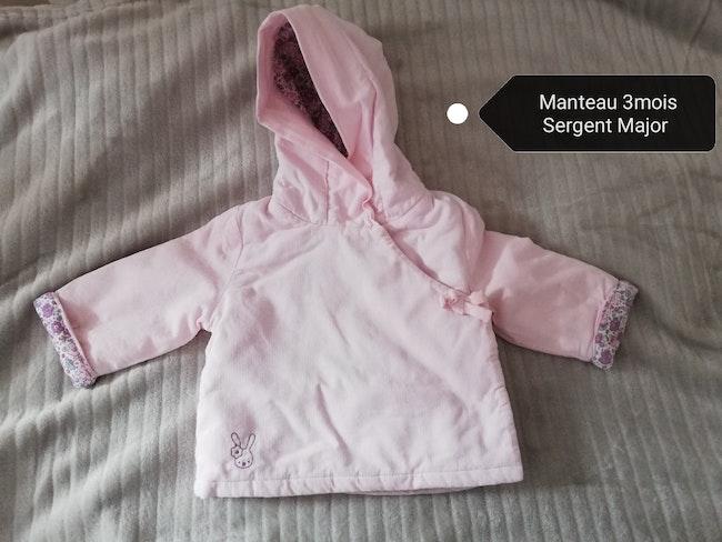 Vends vêtements 1 à 6mois : manteau