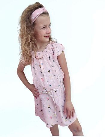 5 ans fille robe ete perroquet a vec ceinture