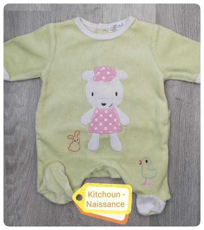 Pyjama en velours Kitchoun Naissance.