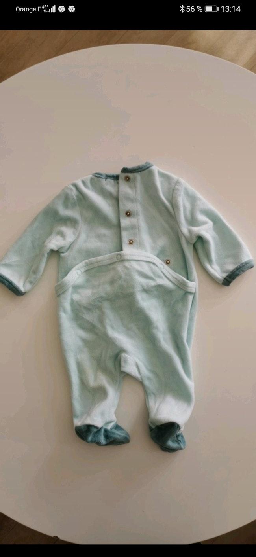 Pyjama velours Kiabi taille 1 Mois