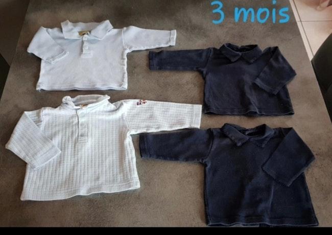 Lot de t-shirts 3 mois