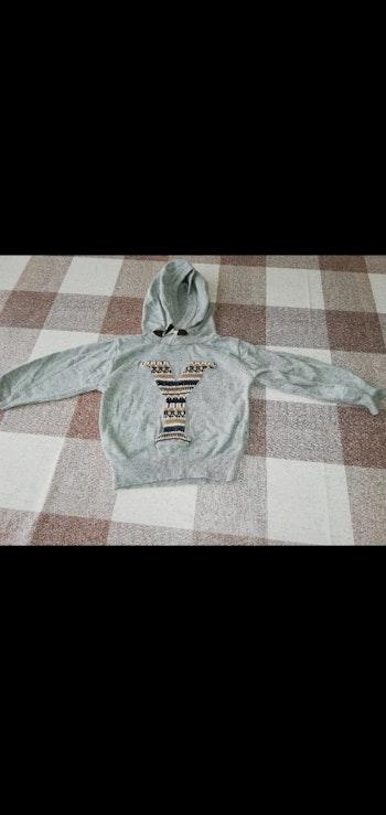 Sweat 24 mois Y gris a capuche YCC