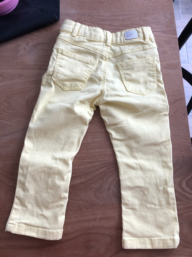 Pantalon jean jaune neuf in extenso 3 ans