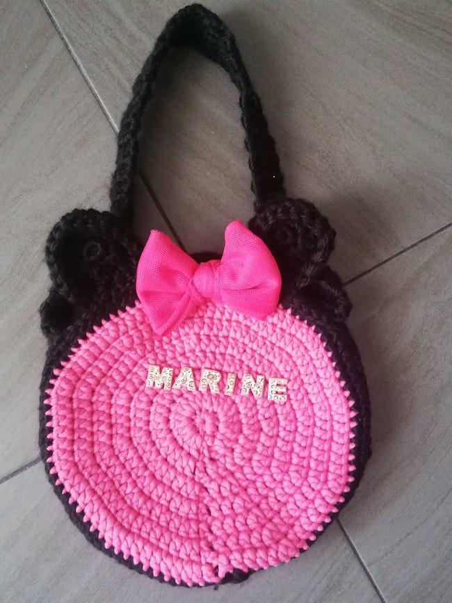 Sac Minnie fait mains en laine