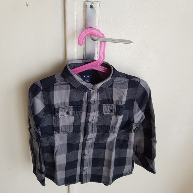 Chemise à carreaux kiabi