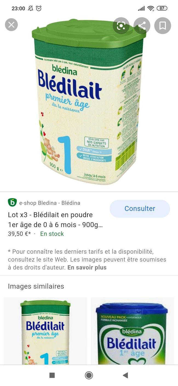 Boîte de lait neuf