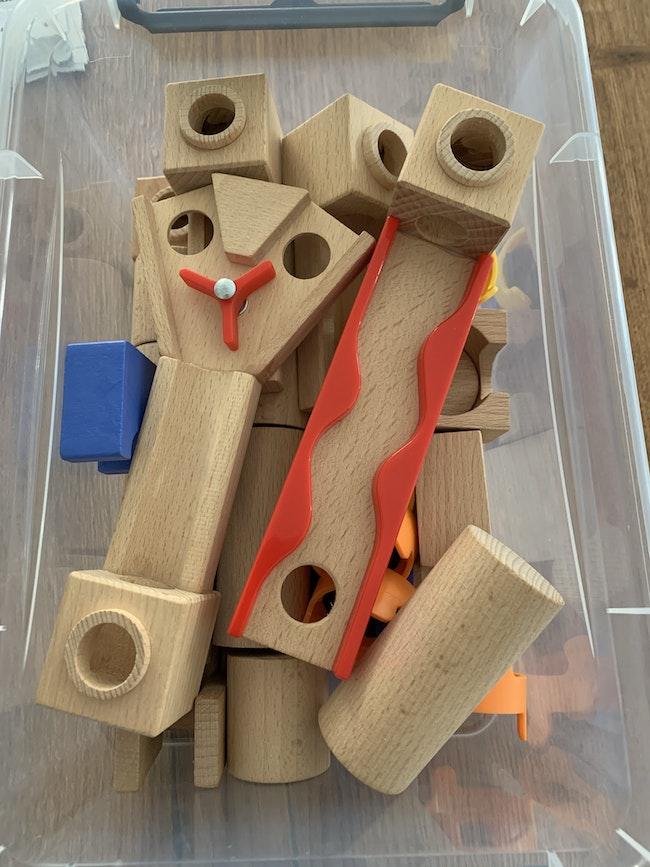 Circuit pour billes en bois