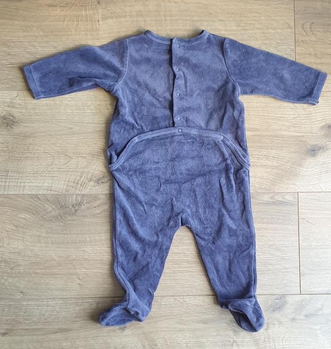 Pyjama garçon gris 6 mois