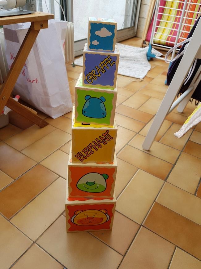 Cubes empilables bois