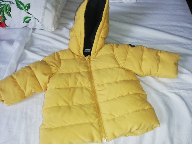 Veste hiver couleur moutarde