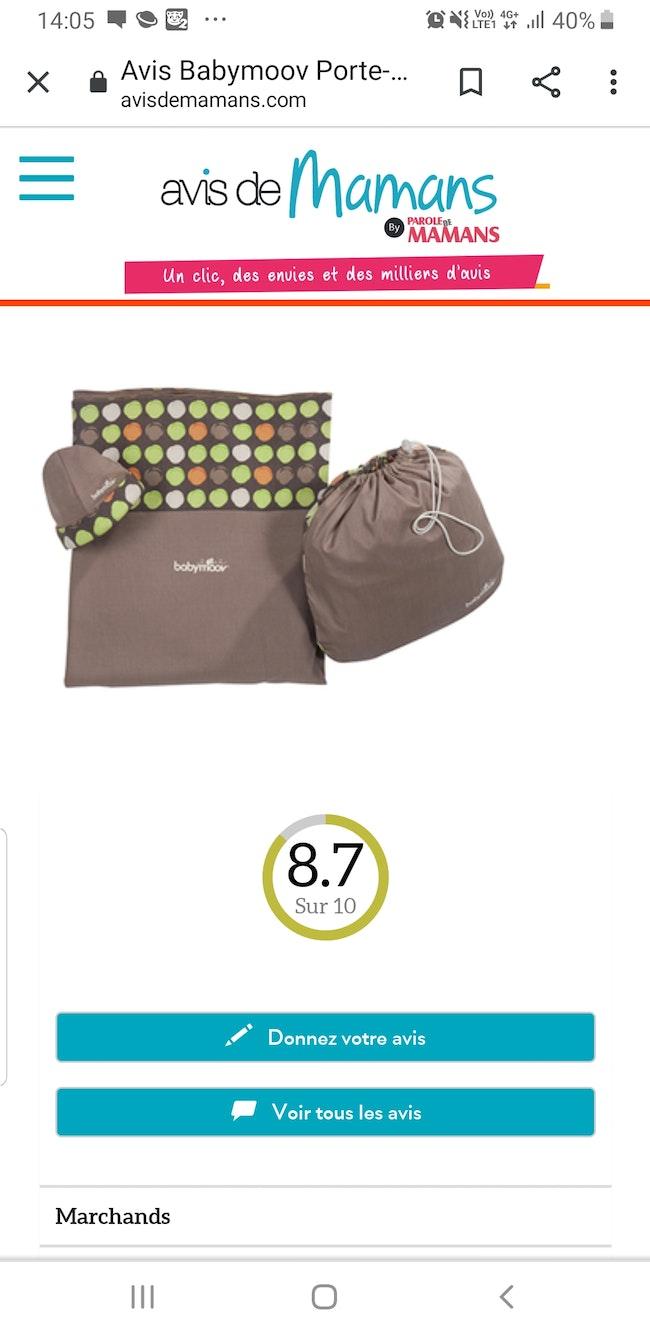 Echarpe de portage babymoov neuf