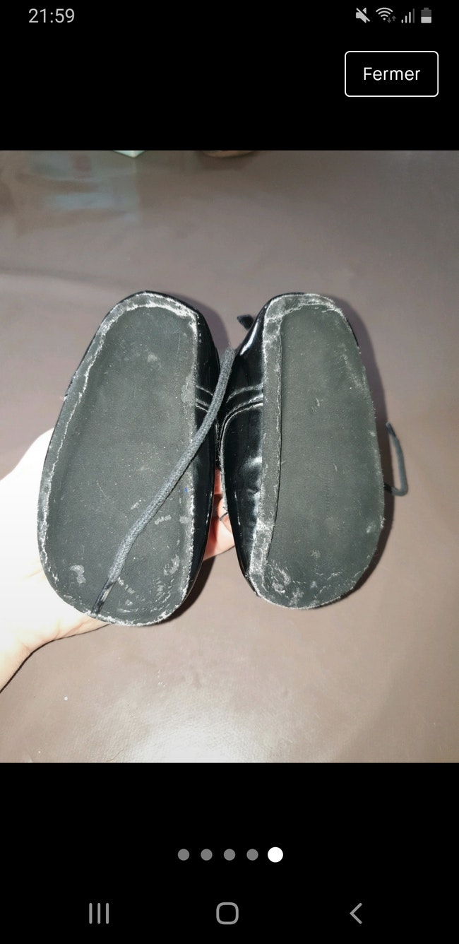 Chaussure vernis fille a lacets pour 17 h et m