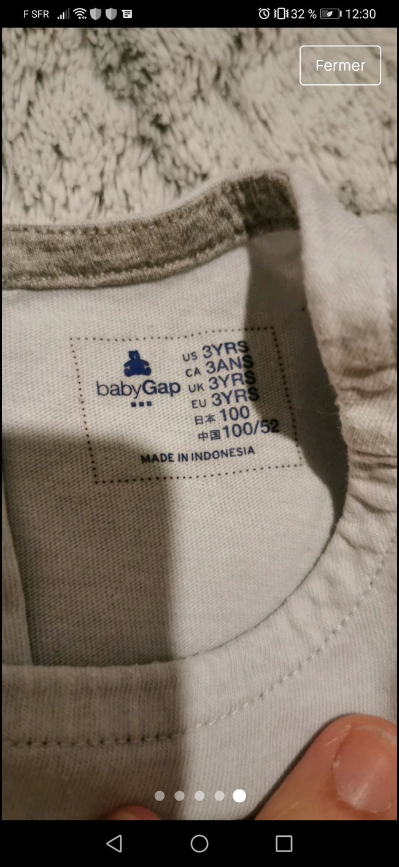 T-shirt bleu ciel GAP