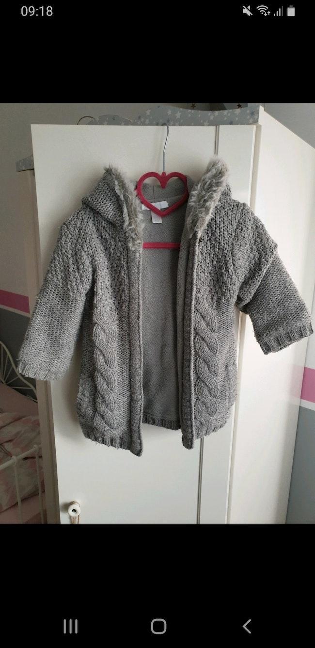 Grosse veste chaude capuche 18 mois grise obaibi