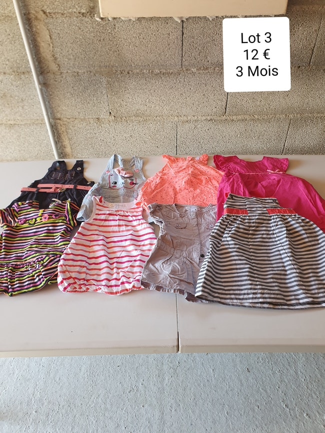 Lot robes 3 mois
