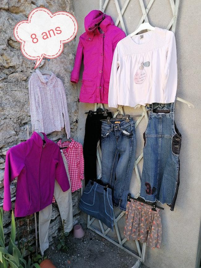 Lot vêtements 8ans fille hiver