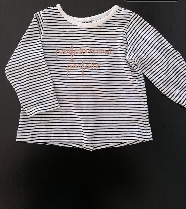 Tee shirt bébé fille manche longue TAO