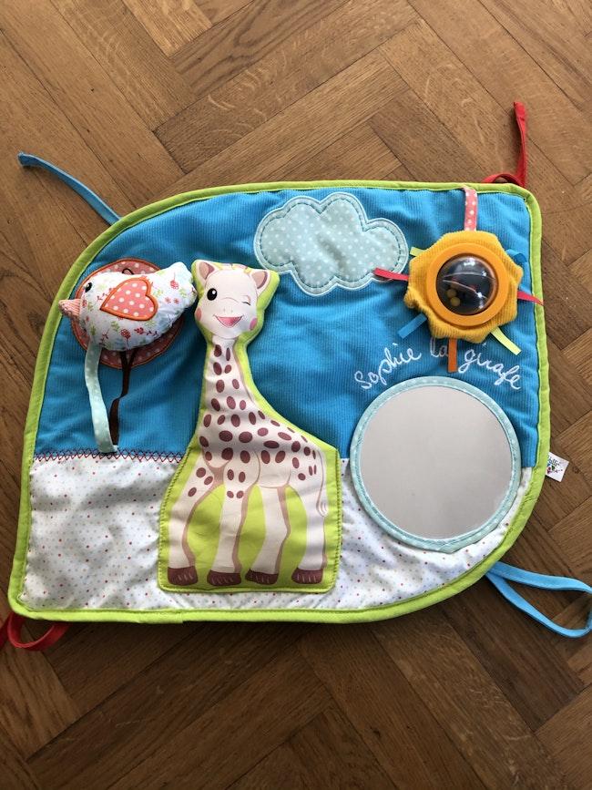 Tapis d'éveil / panneau d'activités sophie la girafe