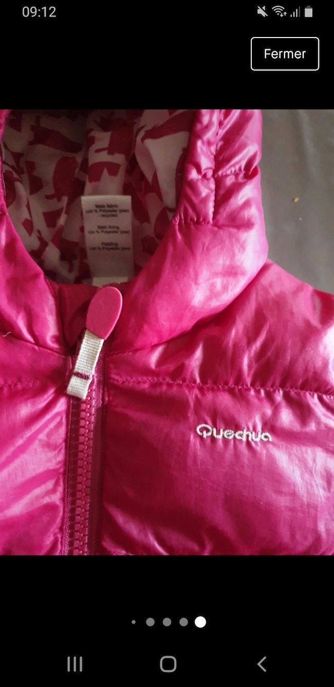 Doudoune hiver manteau chaud ski rose quechua 18 mois