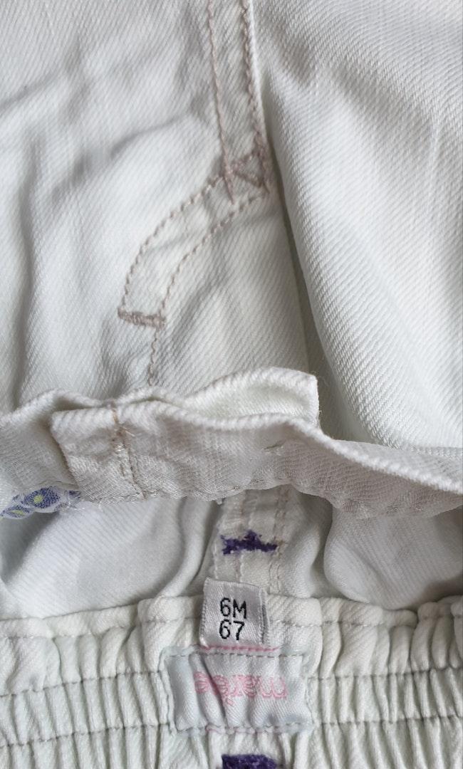 Pantalon garçon blanc 6 mois