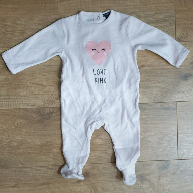 Pyjama fille 6 mois rose kiabi